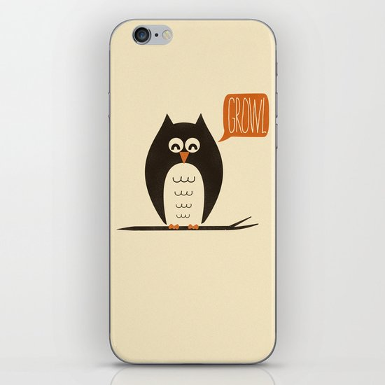 An Owl With a Growl iPhone & iPod Skin