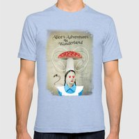 Alice In Wonderland Mens Fitted Tee Tri-Blue SMALL