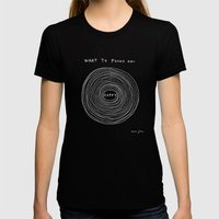 What To Focus On - Happy… Womens Fitted Tee Black SMALL