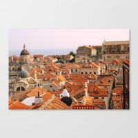 Dubrovnik, Croatia. Sunset. Canvas Print