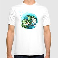 Water Fox Mens Fitted Tee White SMALL