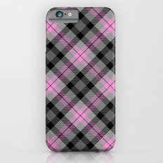 Pink and Gray Plaid Slim Case iPhone 6s