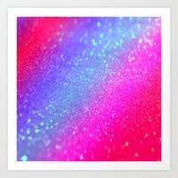 glitter Art Prints featuring glitter by haroulita