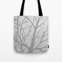 Misty Tree Tote Bag