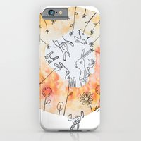 iPhone & iPod Case featuring Meadow of rabbits by Nora Illustration