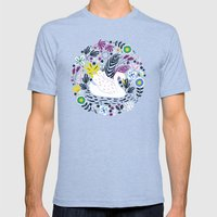 Delightful Swan Mens Fitted Tee Tri-Blue SMALL