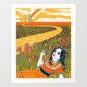 Dorothy in the Poppy Field Art Print