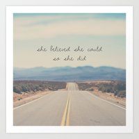 she believed she could so she did Art Print