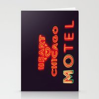 Heart 'O' Chicago Motel (Night) ~ vintage neon sign Stationery Cards