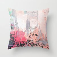 time square/new york Throw Pillow