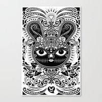 Day Of The Dead Bunny Ce… Canvas Print
