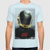 Daft Punk I Mens Fitted Tee Light Blue SMALL