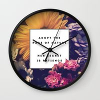 The Pace Of Nature Wall Clock
