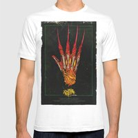 Nightmare On Elm St. Mens Fitted Tee White SMALL