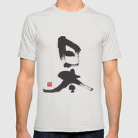 Japan Mens Fitted Tee Silver SMALL