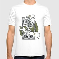 Hourglass Mens Fitted Tee White SMALL