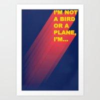 Super Man Art Print