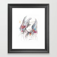 Spring 2015, watercolor Framed Art Print