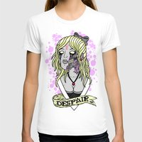 D E S P A I R Womens Fitted Tee White SMALL