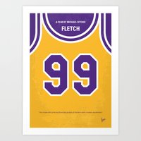 No533 My Fletch minimal movie poster Art Print