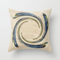 Flower Globe Bubble On … Throw Pillow