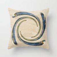 Flower Globe Bubble on Wood Throw Pillow