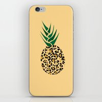 Leopard Pineapple Picture iPhone & iPod Skin