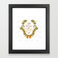 Flower Laurel Framed Art Print