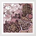 Hortensia autumn Art Print
