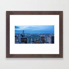 New York City and Central Park Framed Art Print