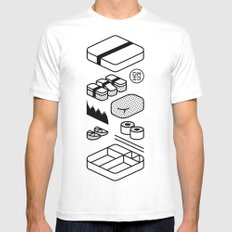 Bento Box Mens Fitted Tee White SMALL