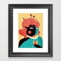 MIND THE HEART Framed Art Print