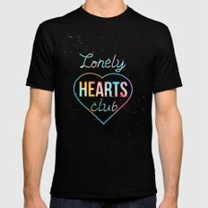 Lonely hearts club Black SMALL Mens Fitted Tee