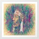 Indian chief fantasy abstract Art Print