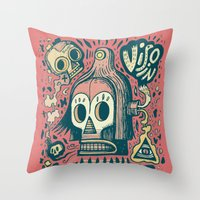 Vision étrange Throw Pillow