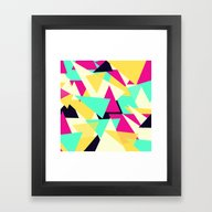 Framed Art Print featuring Triangles Splash by CharlyROSE