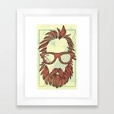 Beard and Shades Framed Art Print