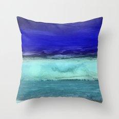 Midnight Waves Seascape Throw Pillow