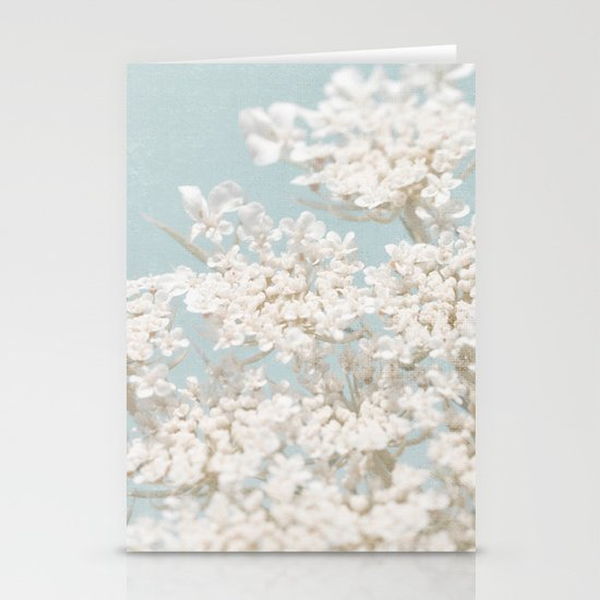Pale Aqua: Dreaming of Spring Stationery Card