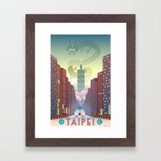 Taipei Travel Poster Framed Art Print