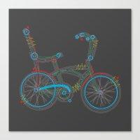 Aztec Bicycle Canvas Print