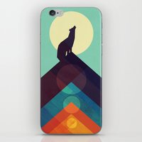 Howling Wild Wolf iPhone & iPod Skin