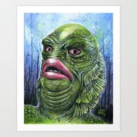The GILL-MAN from the Black Lagoon Art Print