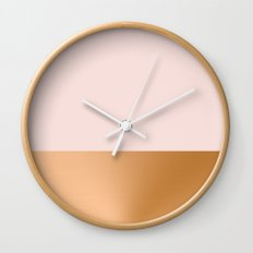 Blush Pink and Copper  Wall Clock