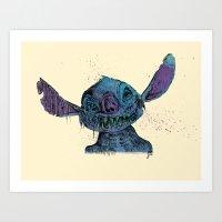 Zombie Stitch Art Print
