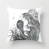 Eatsleepdraw cover art - liquid theme Throw Pillow