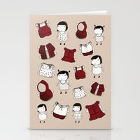 paper dolls Stationery Cards