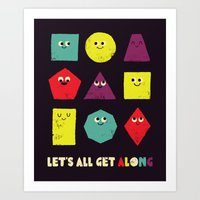 Let's All Get Along Art Print