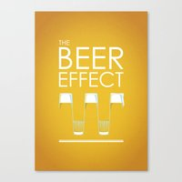 the beer effect Canvas Print