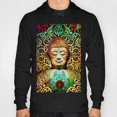 Heart of Transcendence - Colorful Buddha Art With Heart Vajra Hoody